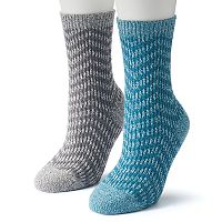 Women's Columbia 2 pkZig Zag Striped Crew Socks