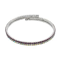 Brilliance Purple Ombre Coil Bracelet with Swarovski Crystals