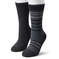 Women's Columbia 2-pk. Extended Size Striped Wool Blend Crew Socks