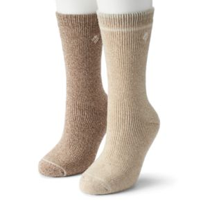 Women's Columbia 2-pk. Extended Size Wool Blend Crew Socks