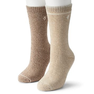 Women's Columbia 2-pk. Extended Size Wool Blend Crew Socks