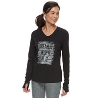 Petite Tek Gear Graphic Athletic Tee