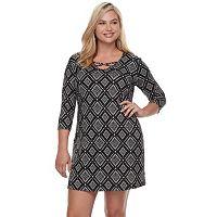 Juniors' Plus Size Mudd® Cross Front Bodycon Dress