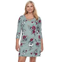 Juniors' Plus Size Mudd® Cross Front Bodycon Dress