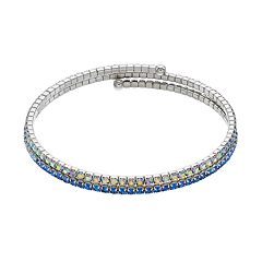 Brilliance Blue Ombre Coil Bracelet with Swarovski Crystals