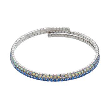 Brilliance Blue Ombre Coil Bracelet with Swarovski Crystals
