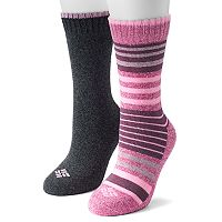 Women's Columbia 2-pk. Extended Size Cushioned Crew Socks