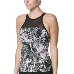 Women's Nike Printed High-Neck Tankini Top
