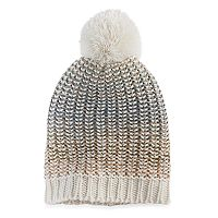 madden NYC Women's Lined Spectrum Knit Pom Pom Beanie