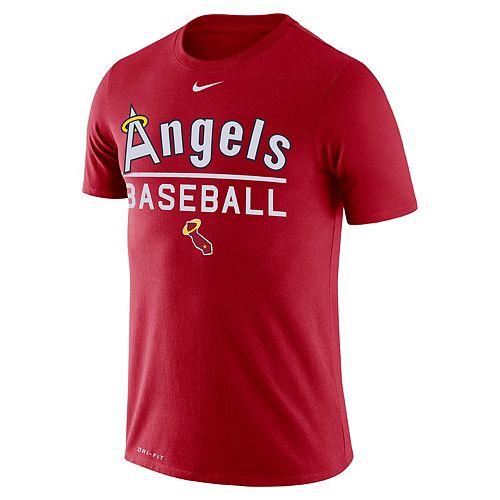 Men's Nike Los Angeles Angels of Anaheim Practice Tee