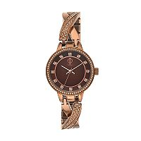 Jennifer Lopez Women's Julia Crystal Crisscross Half Bangle Watch