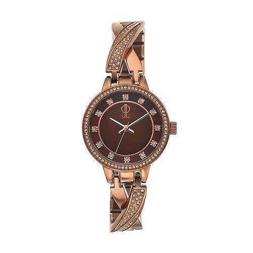 Jennifer Lopez Women's Julia Crystal Crisscross Half Bangle Watch