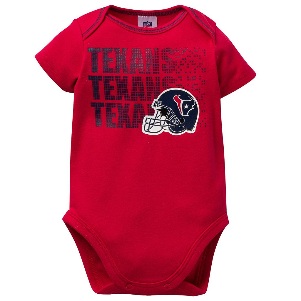 Baby Houston Texans 3-Pack Bodysuit Set