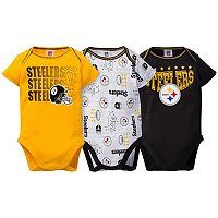 Baby Pittsburgh Steelers 3-Pack Bodysuit Set