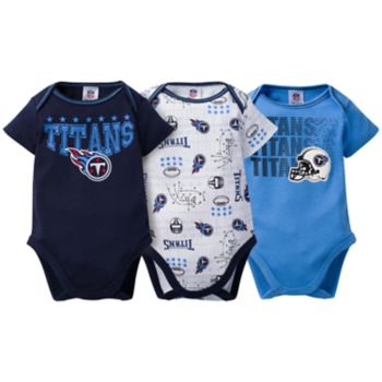 Baby Tennessee Titans 3-Pack Bodysuit Set