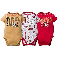 Baby San Francisco 49ers 3-Pack Bodysuit Set