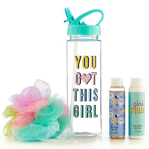 "Girls 4-16 ""You Got This Girl"" Water Bottle & Bath Set"
