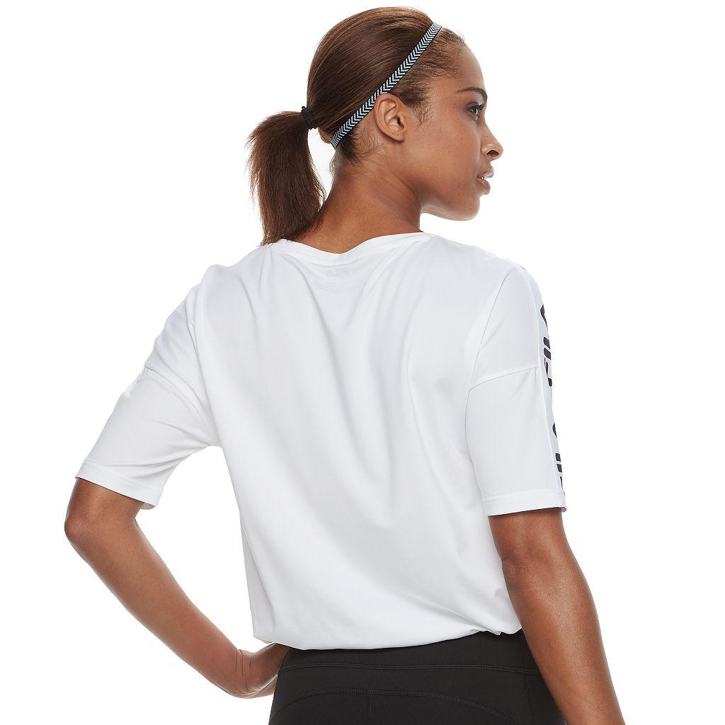 Women's FILA SPORT® Sleeve Tape Tee