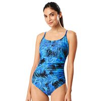 Women's Speedo Tummy Slimming Shirred One-Piece Swimsuit