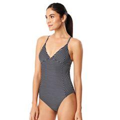 Women's Speedo Striped One-Piece Swimsuit