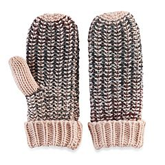 madden NYC Women's Lined Spectrum Knit Mittens