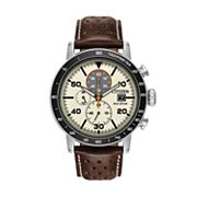 Citizen Eco-Drive Men's Brycen Leather Chronograph Watch - CA0649-06X