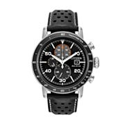 Citizen Eco-Drive Men's Brycen Leather Chronograph Watch - CA0649-14E