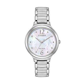 Citizen Eco-Drive Women's Citizen L Chandler Crystal Stainless Steel Watch - EM0550-59D