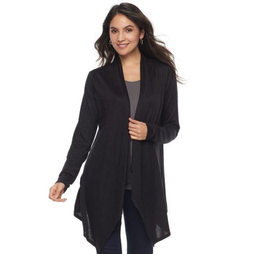 Women's Apt. 9® Brushed Flyaway Cardigan