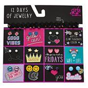Girls 12 Days of Jewelry Set