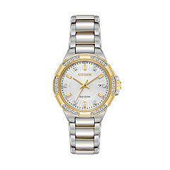 Citizen Eco-Drive Women's Riva Diamond Two Tone Stainless Steel Watch - EW2464-55A