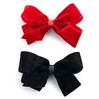 Girls 4-16 2-pk Faux-Velvet Bows