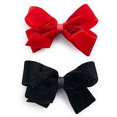 Girls 4-16 2-pk Faux-Velvet Bows