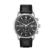 Citizen Eco-Drive Men's Corso Leather Watch - CA7000-04H