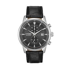 Citizen Eco-Drive Men's Corso Leather Watch - CA7000-04H