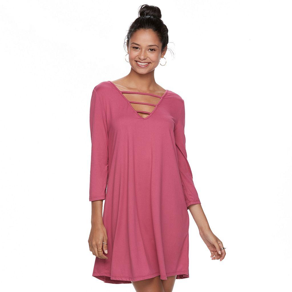 Juniors' Mudd® Strappy Swing Dress
