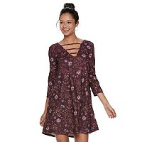Juniors' Mudd® Strappy Swing Dress