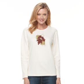Women's Embroidered Fleece Top