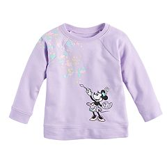 Disney's Minnie Mouse Baby Girl Paint Palette Crew Pullover Top by Jumping Beans®