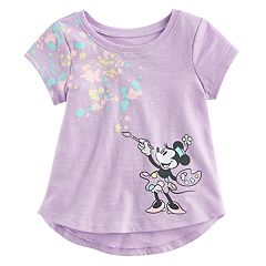 Disney's Minnie Mouse Baby Girl Paint Palette Slubbed Graphic Tee by Jumping Beans®