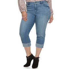 Plus Size Jennifer Lopez Black Rockin Capri Pants