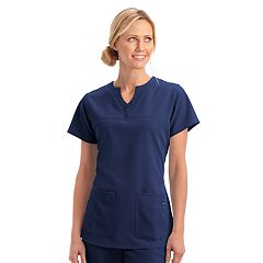 Women's Jockey Scrubs Classic Button Placket Short Sleeve Top