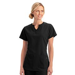 Plus Size Jockey Scrubs Classic Button Placket Short Sleeve Top