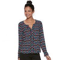 Juniors' Candie's® Ruffle Crepe Shirt