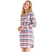Women's Jockey Pajamas: Plaid Long Sleeve Sleep Shirt
