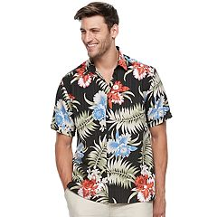 Men's Havanera Multi-Color Floral Linen-Blend Button-Down Shirt