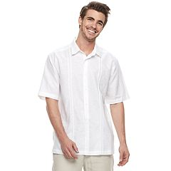 Men's Havanera Embroidered Geo Panel Button-Down Shirt