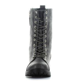 Seven7 Mr. Zipper Women's Combat Boots