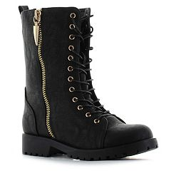 Seven7 Mr. Zipper Women's Combat Boots