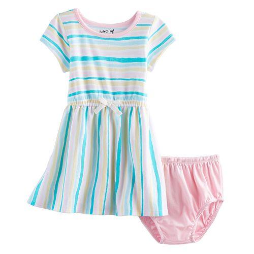 Baby Girl Jumping Beans® Striped Skater Dress
